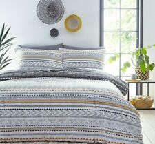 Jeff Banks Super King Bed Set Aztec Ports Of Call Duvet Cover & 2 Pillow Slips