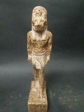 Antique Statue Rare Ancient Egyptian Pharaonic Sekhmet Granite  Bc