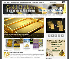 * GOLD INVESTING * affiliate website business for sale w/ AUTO UPDATING CONTENT
