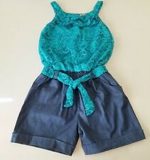 bdf7c373891f Girls LITTLE POTATOES stretch lace chambray romper 6 NWT western outfit  shorts