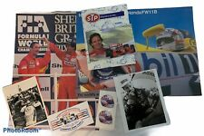 FORMULA 1 Racing  F1 INDY Mansell Senna Zanardi Posters Autographs Sticker LOT