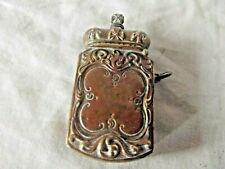 More details for  antique victorian commemorative brass vesta / match safe case