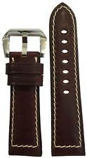 24x22 RIOS1931 for Panatime Dark Burgundy Shell Cordovan Watch Strap for Panerai