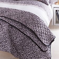 4Pc Luxury Animal Print Quilted Bedspread Set Comforter & Pillow Shams 220x230cm