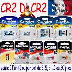 Piles Battery photo Lithium 3V CR2 DLCR2 EL1CR2 CR17335 disponible par 1 2 ou 5