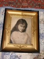 Vtg French  Ormolu Filigree wall photo Frame