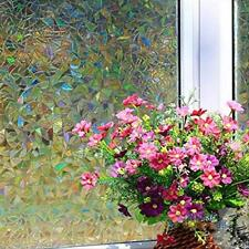 3D Static Cling Home Window Film Stained Glass Paper Frosted Decor Privacy