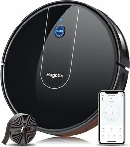 Bagotte BG700 Robot Vacuum with 1600Pa Ultra Suction, Intelligent WiFi Connected