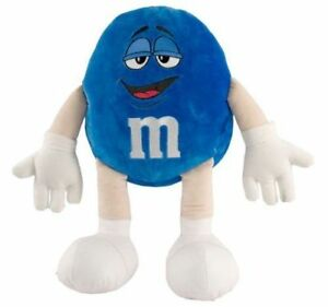 "M&M Character Medium Plush Soft Stuffed Doll Toy Blue 10"" tall 25 cm"