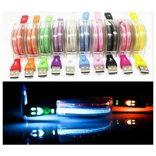 Retractable Glow LED USB Sync&Charger Cable Light-up USB Cable Glow For iPhone