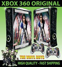 XBOX 360 ORIGINAL ALICE MADNESS RETURNS WONDERLAND STICKER SKIN & 2 X PAD SKINS