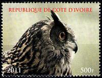 Elfenbeinküste postfrisch MNH Vogel Eule Uhu Kautz Greifvogel Raubtier Natur / 3