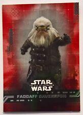 2019 Star Wars Rise of Skywalker RED Walmart Exclusive FADDAFF DAVENSPON #29