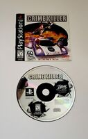 Crime Killer Sony PlayStation 1 Video GAME & MANUAL