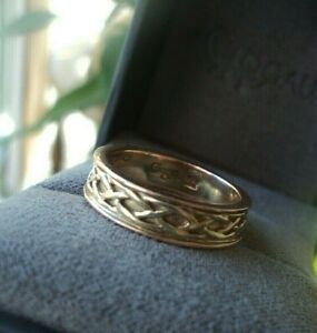 Clogau Welsh 9ct Rose & Yellow Gold Celtic Eternal Love Annwyl Ring - size Q