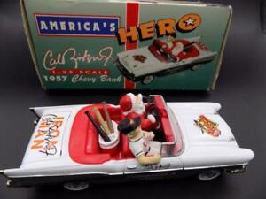 Cal Ripken Jr Bank Santa 1957 Chevy Christmas Spec Cast Limited Edition MLB EUC