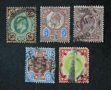 CKStamps: Great Britain Stamps Collection Scott#133/138 Used #136 Tiny Thin