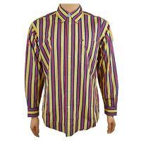 Tommy Hilfiger Men's Long Sleeve Button Down Dress Shirt Bold Stripe Size M