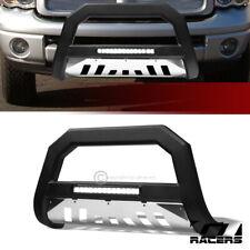 For 2002 2009 Dodge Ram Matte Blkss Skid Avt Aluminum Led Bull Bar Bumper Guard Fits 2005 Dodge Ram 1500