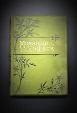 Alfred Engelback Original Antique Book Monsieur Jack First Edition 1879