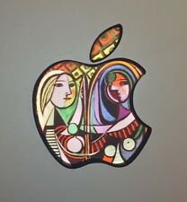 GLOWING PICASSO GIRL BEFORE MIRROR Apple MacBook Pro Air Mac Logo Laptop DECAL