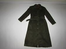 Talula Babaton Women's Belted Over Coat Small Green Wool Mohair Lined S Fluffy