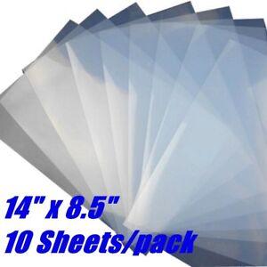 """10 Sheets Waterproof Inkjet Screen Printing Milky Transparency Film 8.5"""" x 14"""""""