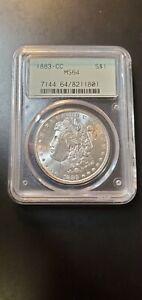 1883 CC Morgan dollar PCGS MS64 Old Green Holder OGH (Slab673)