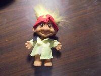 "RUSS "" Fireman with Yellow Hair""  Troll Doll  5"""