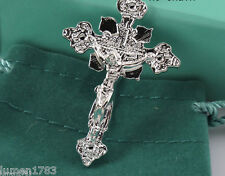 CRUCIFIX 925 STERLING SILVER CROSS GOD SACRED GOTHIC REPEL EVIL VAMPIRE WEREWOLF