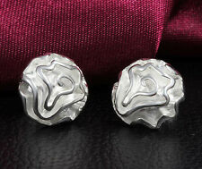 925 Sterling silver Plated Wholesale Free Shipping Fashion rose Earrings