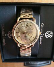 CXL by CHRISTIAN LACROIX Women's Quartz Analog Gold Coloured Bracelet Watch