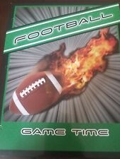Game Time Football 2-Pocket Portfolio Folders 3-Hole Punch School
