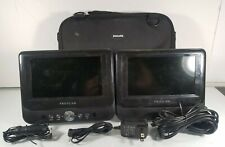 "Proscan Pdvd8737 7"" Dual Screen Portable Dvd Player Audio/Video for Car"