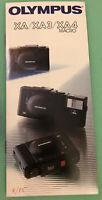 Brochure for Olympus XA XA3 XA4 macro camera original 1985