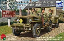 Bronco 1/35 35106 GPW 1/4 Ton 4x4 Utility Truck w/Trailer&Airborne Crew