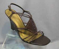 Apostorphe Brown Wedge Sandals size 9 Brown Strappy Sandals Brown Heels Size 9