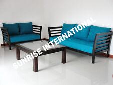 Slat design  Wooden Sofa Set  3 + 2 + Center table !!