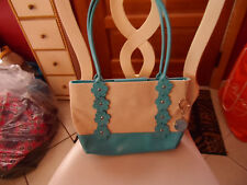 Teal and tan shoulder bag from duck head