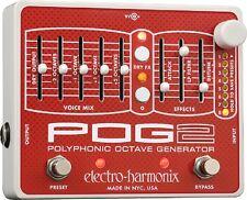 NEW ELECTRO HARMONIX POG2 POLYPHONIC OCTAVE GENERATOR PEDAL w/ FREE US S&H