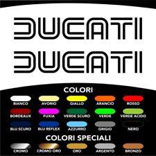 2 Adesivi Stickers Moto DUCATI Old Style