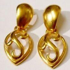 boucles d'oreilles percées rétro bijou vintage signé EXPRESS couleur or *139