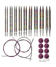 OPTIONS INTERCHANGEABLE RAINBOW WOOD CIRCULAR KNITTING NEEDLES SET by KNIT PICKS