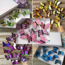 Imitation 3D Butterfly Design Hair Clips Festival Party Summer Concerts 10pcs