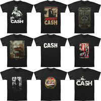 Mens Johnny Cash Music T-shirts Funny T Shirt Black