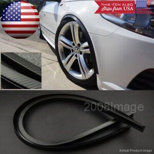 """2 Pcs 47"""" Black Carbon Arch Wide Body Fender Extension Lip Guar For  VW Porsche"""