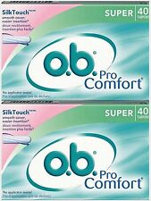 OB Tampons SUPER 40 Count ( 2 pack )