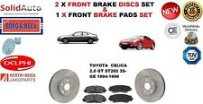FOR TOYOTA CELICA 2.0 GT 3S-GE COUPE FRONT BRAKE DISCS SET + DISC PADS KIT NEW