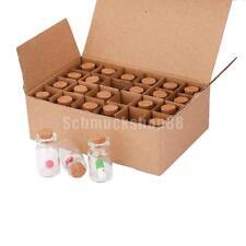 24pcs Mini Flaschen Wishing Wunsch Glasflasche Fläschchen mit Kapsel-Pille