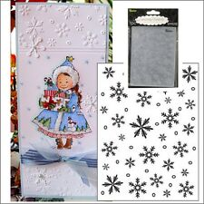 Darice Snowflake Background embossing folder Christmas embossing folders 1215-58